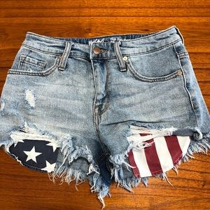 Mossimo high rise distressed jean shorts
